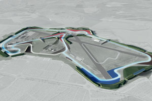 A computer generated image of the new Silverstone