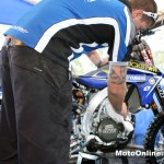 Boydy's CDR Rockstar Yamaha gets a quick pat down after practice.