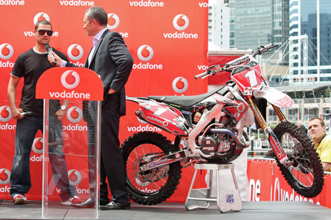 TeamVodafone and Chad Reed made headlines with an impressive team launch at Darling Harbour today.