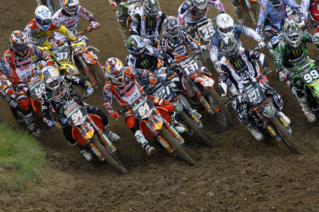 German Ken Roczen (94) easily shaded an all-star MX2 field at Bulgaria's world championship opener last weekend.