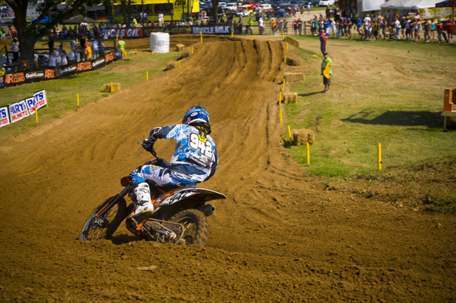 This season will see Simmonds getting to ride some of the most famous race tracks in the world in AMA Pro Motocross. Image: KTM Images.