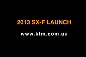 Behind the Scenes: 2013 KTM SX-F range launch