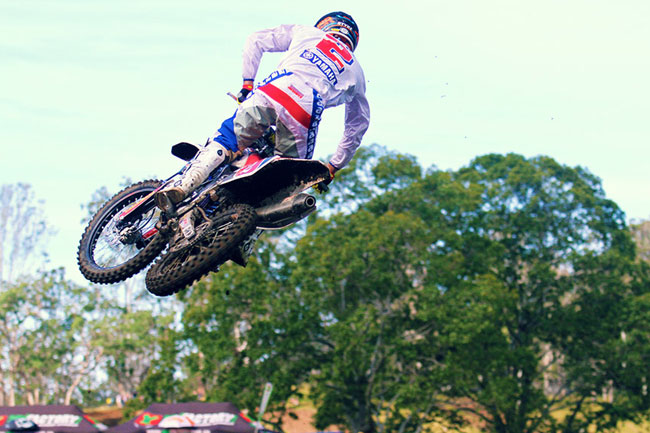 Luke Styke continued his strong form in Conondale with another win in the MX2 class. Image: Simon Makker/Makkreative.com.