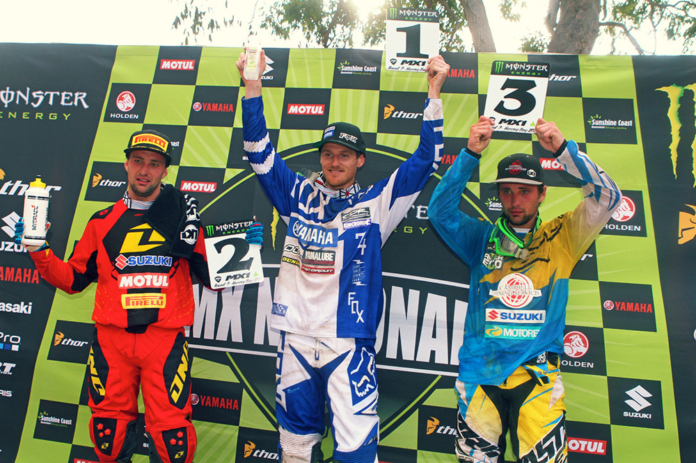 CDR Yamaha's Billy Mackenzie scored consistent finishes to secure the MX1 class win over the Moss twins. Image: Simon Makker/Makkreative.com.