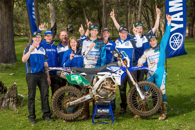 Milner handed the CDR Yamaha team A4DE victory on debut. Image: Four Oh Four.