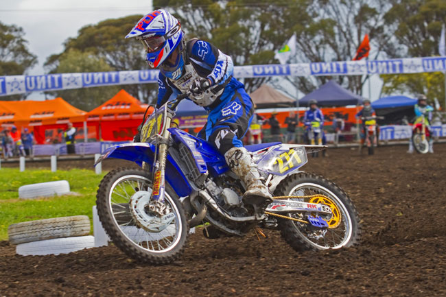 Dylan Heaton took out the 15 Years 125cc Australian MX Championship. Image: Shane Booth.