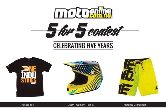 MotoOnline.com.au hosting 5 for 5 Contest Week 3 with ONE
