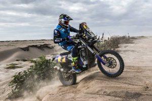 Yamaha's Van Beveren takes Dakar lead on stage four