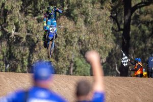 Clout new MX1 leader after dominant outing at Maitland ProMX